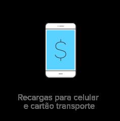Recargas para celular e cartão transporte