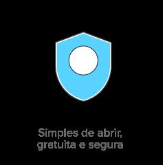 Simples de abrir e gratuita